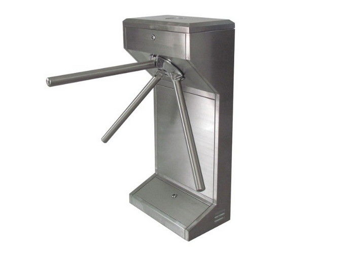 Office Building Door Tripod Turnstile Gate With Stainless Steel Casing Gate
